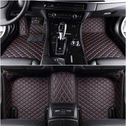 Custom 5 Seat car floor mats for mg zs hs mg3 mg5 mg6 mg7 gs gt car mats auto accessories