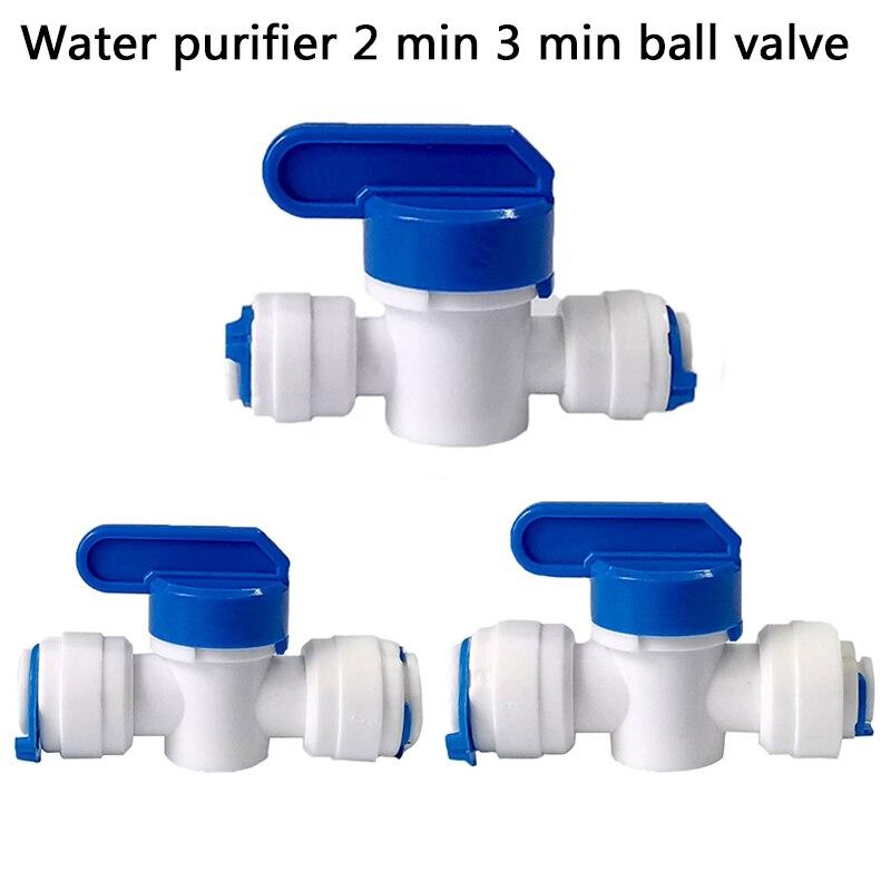 "Válvula de Bola De Agua de plástico Reveser de 1/4 ""3/8"" OD de conexión rápida para conectar accesorios de acuario de ósmosis"