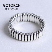 Genuíno 925 prata esterlina casal anéis para amantes mulheres e homens simples trançado personalizado elegante anel de jóias