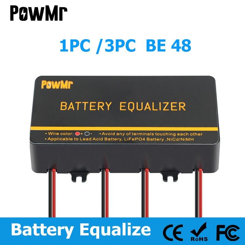 1/3PC Battery Equalizer 48V Batteries Voltage Balancer Lead Acid Battery Charger Regulators Connected In Series Solar Panel Cell