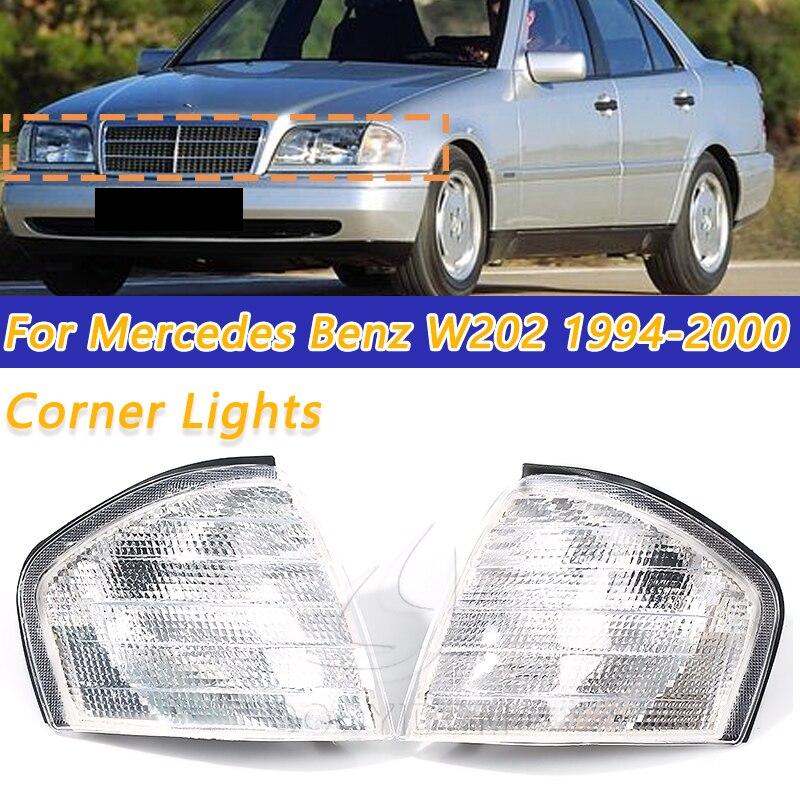 Luces Led de giro transparentes COOYIDOM, luces de esquina automáticas de espejo para Mercedes Benz Clase C W202 1994-2000 1995 1996 Accesorios