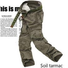 Hommes cargo pantalon noir 2020 été mode hommes armée beaucoup poche Camouflage pantalon mâle urbain tactique droite Camouflage pantalon hommes