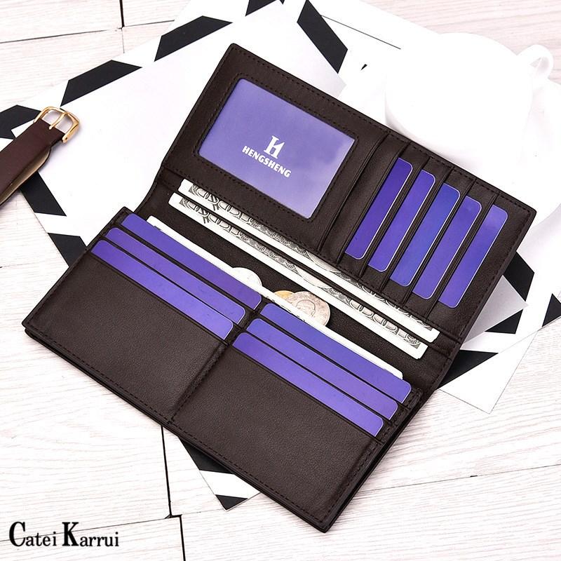 Мужской Длинный кошелек Catei Karrui, мягкий бумажник в стиле ретро для молодежи, персонализированная модная папка для билетов для студентов, Япо...