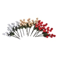 new 5pcs 5 head artificial fruit bouquet of cherry berry fake pearl flower stamens diy wedding home decoration wholesale