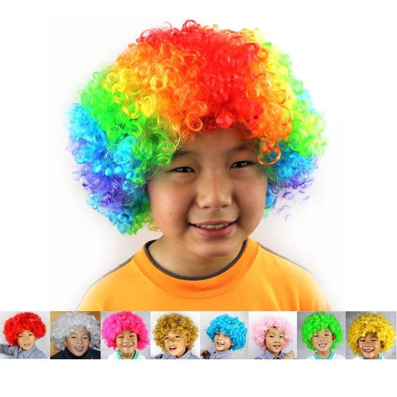 Colorful Explosive Party Wigs for Kids Adult Dance Masquerade Party Dress Performance Props Wig Funny Clown Wig Caps Party Hats