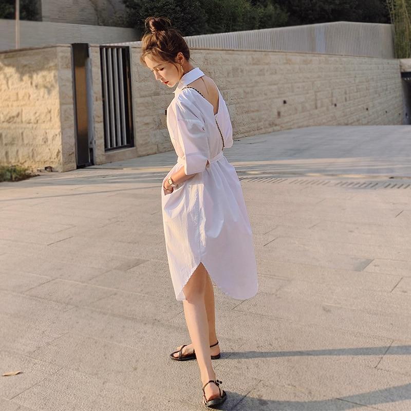 New Product ~ Back Hollow Shirt Dress