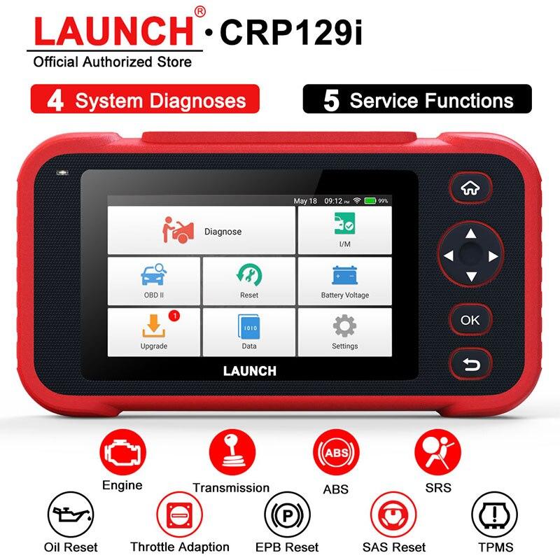 LAUNCH CRP129i OBD2 Automotive Scanner Four Systems Launch Scanner EPB SAS TPMS Oil Reset EOBD OBD2 Scanner Car Diagnostic Tool