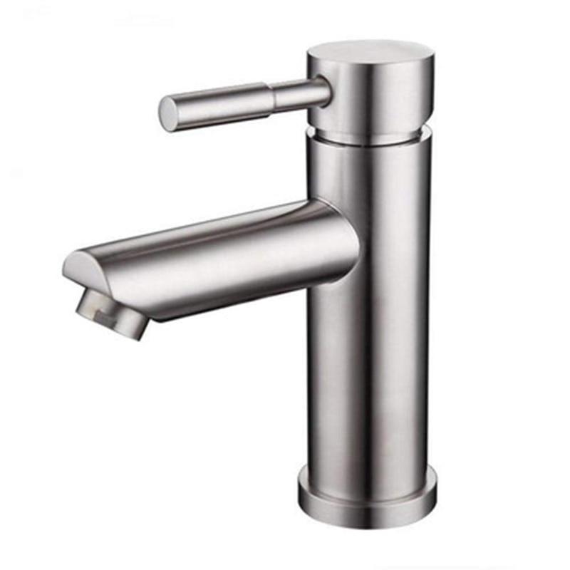 S304 بالوعة صنبور صنبور الفولاذ المقاوم للصدأ الحمام حوض الماء الساخن والبارد خلاط صنبور البالوعة حوض الحنفية الحديثة بالوعة الحمام صنبور