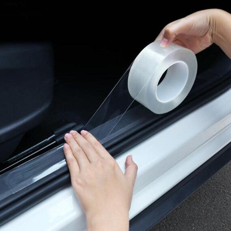 Pegatinas a prueba de arañazos para umbral de puerta de coche, Nano cinta protectora para Citroen Picasso C1 C2 C3 C4 C4L C5 DS3 DS4 DS5 DS6 Elysee c-quatre