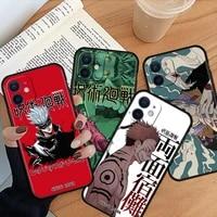 silicone phone case for coque iphone 12 mini 11 pro max 7 8 6 6s plus xr x xs 5 5s se 2020 cover fundas jujutsu kaisen
