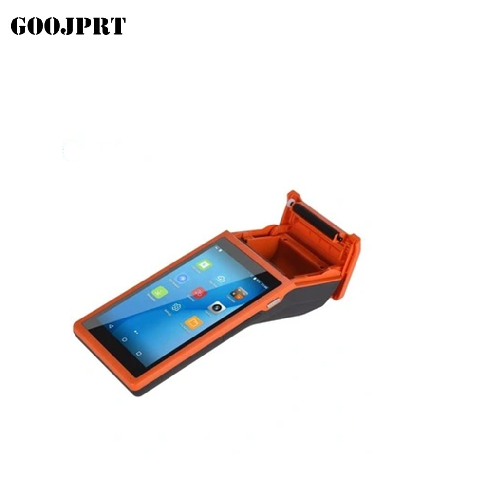 Handheld mobile pos reader 1D 2D thermal Pos receive printer wifi barcode scanner handheld terminal Android 6.0 PDA