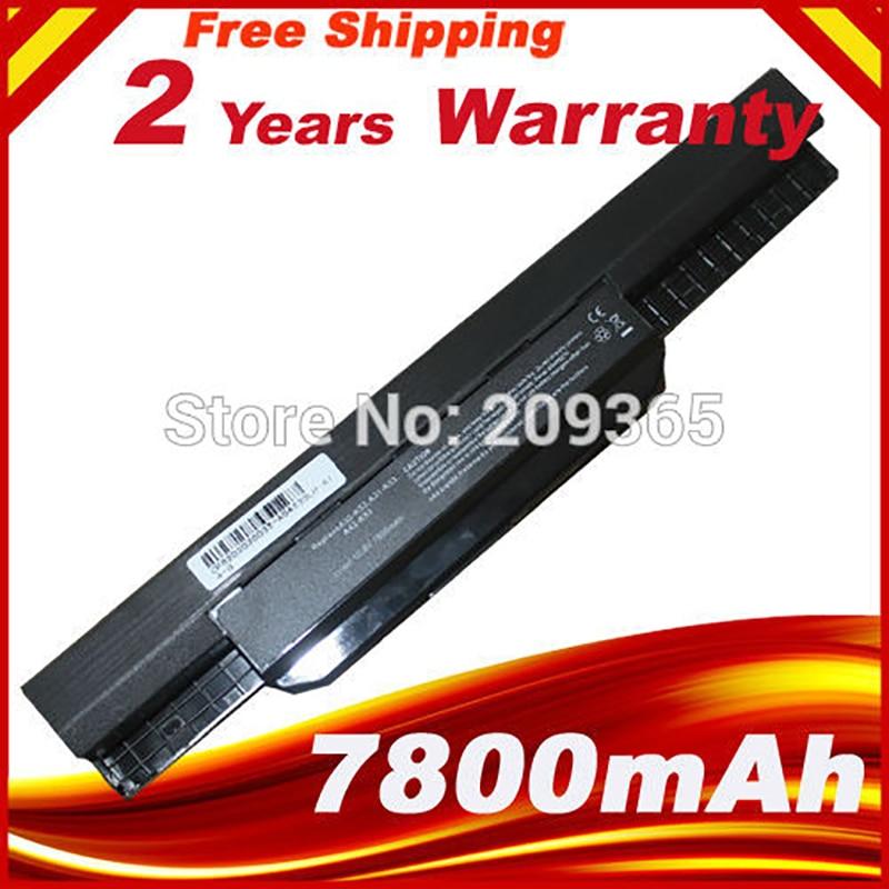 7800mAh סוללה למחשב נייד עבור ASUS K53 K53E X54C X53S X53 K53S X53E A32-k53 A42-k53 K43jc K43jm K43js K43jy K43s k43sc-