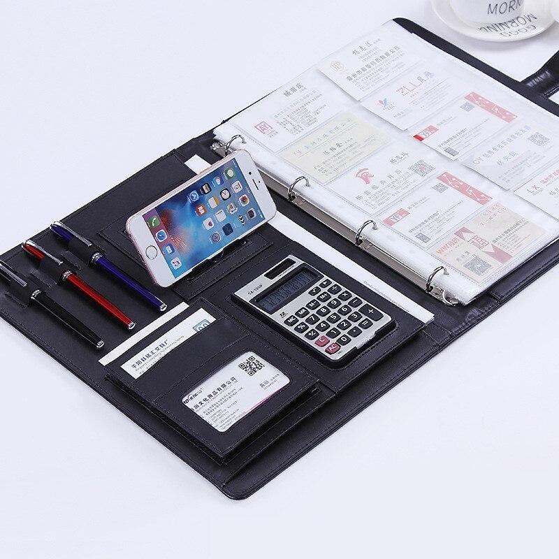 Кожаный держатель для телефона A4, органайзер для калькулятора, записной книжки, блокнота, портфеля, портфель для документов, Сумка с индивид...