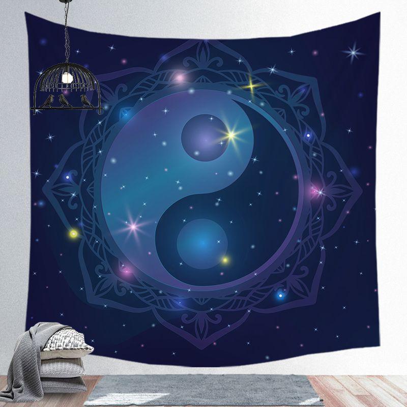 Tapiz de astrología, Tapiz de macramé para colgar en la pared, Tapiz psicodélico, tapices, tapices, decoración para sala de estar