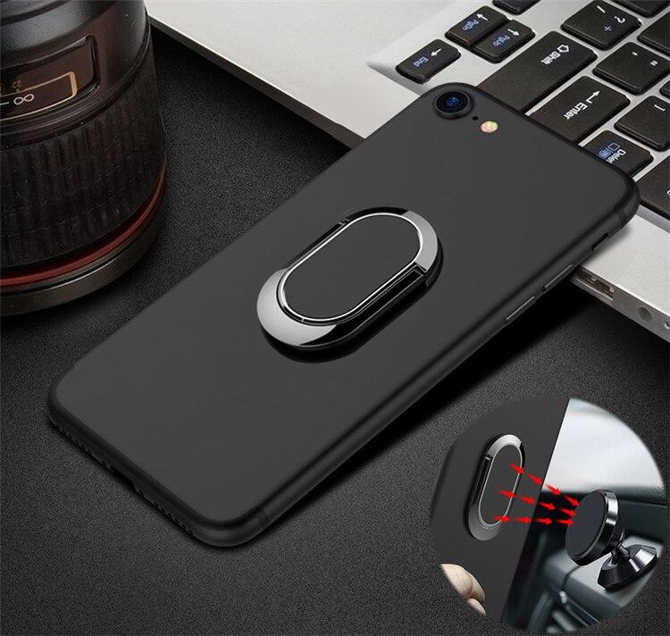 Anillo de dedo de coche funda, soporte para Meizu A5 M5C M710h M5 nota M6 Mini M5S M6S Pro 6 Plus 6S S6 M6T 6T M3E cubierta suave