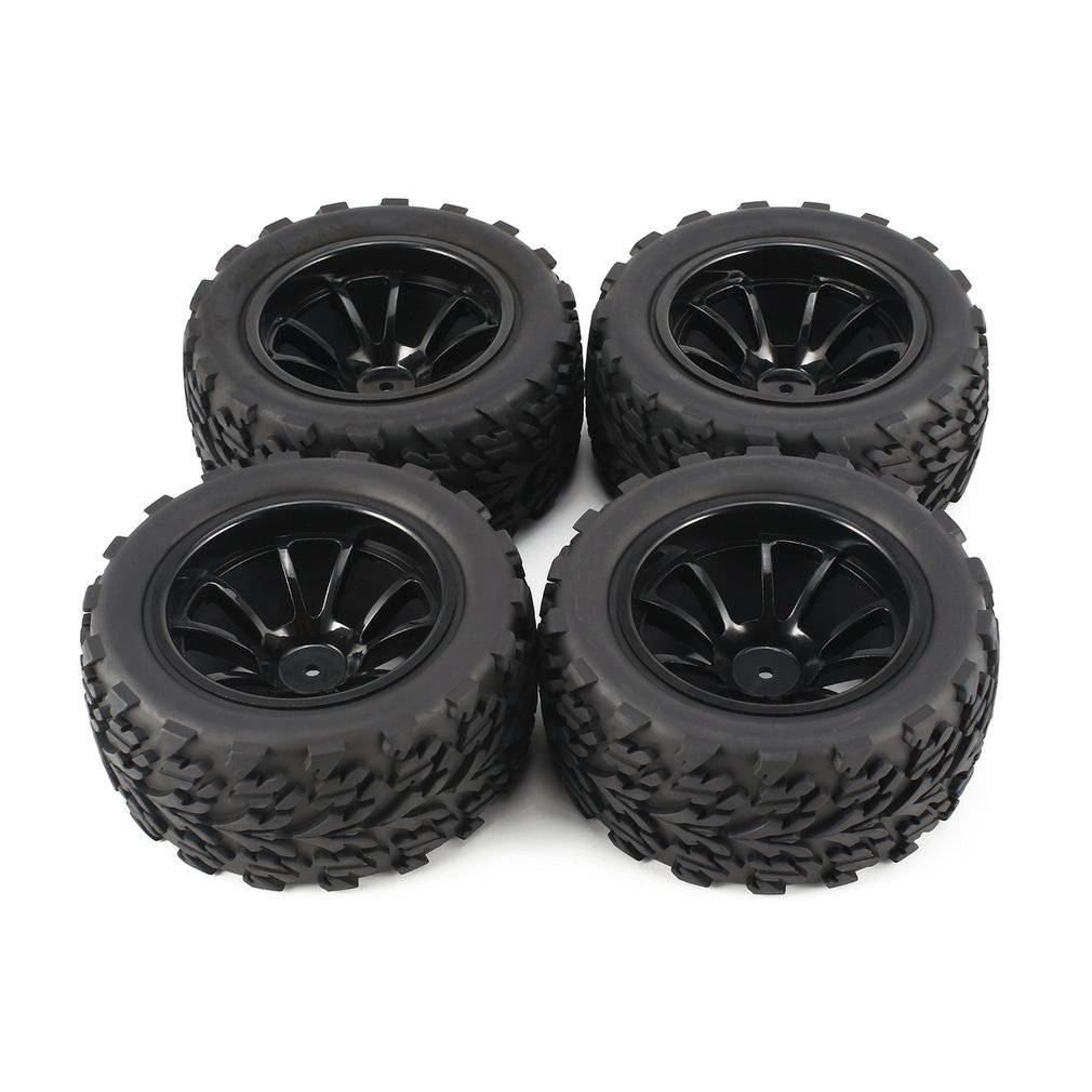 4Pcs 120mm 10 Contour Public Word Fetal Flower Off-road Wheel Rim and Tires for 1/10 Monster Truck Racing RC Car Accessories enlarge
