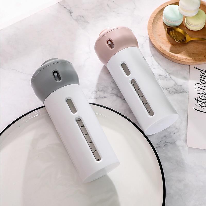 40ml * 4/Set viaje botella recargable loción cosmético limpiador Facial giratorio contenedor portátil caja de almacenamiento de Gel vacío kit de