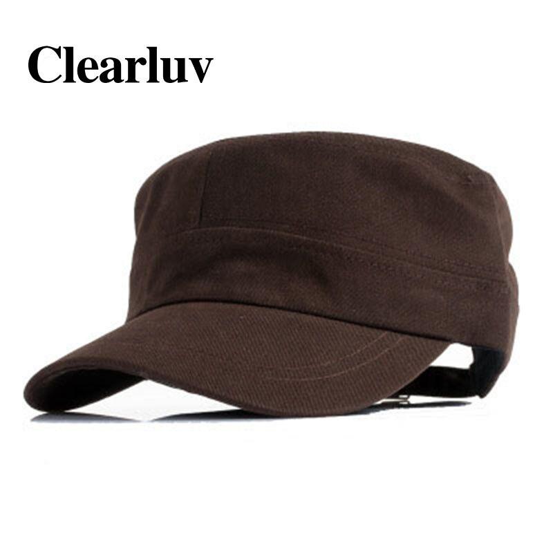 Gorra plana de resorte ajustable de verano para Hombre gorras de ejército Gorra para Hombre Beisbol sombrero militar de algodón clásico sombreros casuales a prueba de sol al aire libre