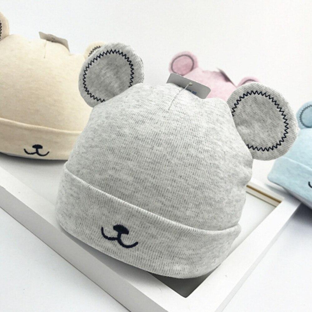 2019 gorro infantil para bebé niñas niño orejas de peluche gorra de invierno cálido gorro boina de lana lindo orejas de peluche Beanie Cap para 0-1Y sombrero de niños 99