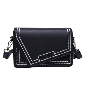 Thread Crossbody Bags For Women Casual Purses And Handbags Printed Wide Shoulder Strap Small Square Bag Shoulder Messenger Bags