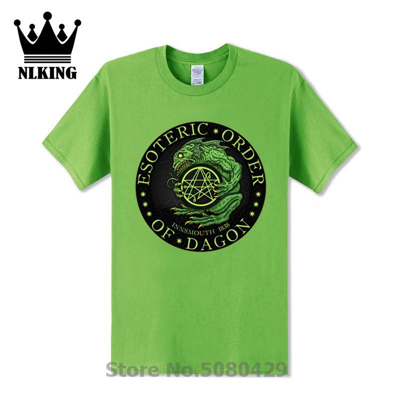 Dagon deep ones innsmouth Tops tees shirt Некрономикон hp lovecплот Футболка мужская EOD Azhmodai вызов cthulhu футболка