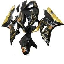 Pour YAMAHA noir doré YZFR1 00-01 YZF-R1 2000 2001 ABS kit VISSERIE carénage YZF R1 2000-2001 00 01
