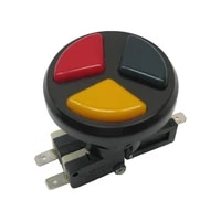 arcade triple color 3 in 1 push button with micro switches for arcade game machines