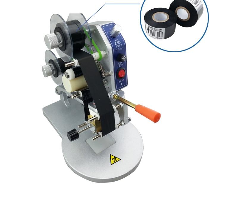 Electric Color Ribbon Hot Printing Machine Direct Thermal Foil Manual Stamp Printer Coding Machine Date Ribbon Coder