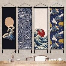 Tapiz colgante de pared pintura china de desplazamiento cuadros de impresión de lienzo cuadros de arte de pared para tapices decorativos de sala de estar