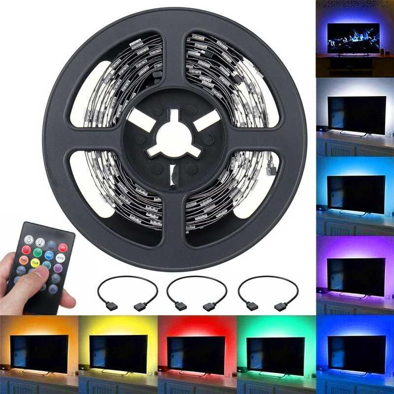 RGB LED Streifen USB musik streifen ligths Hause Alexa LED Streifen SMD5050 mit Fernbedienung DC5V für weihnachten home 2X0,5 M + 2X1M