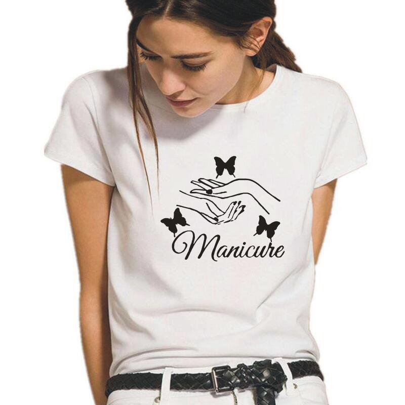 Camiseta de salón de belleza de moda para Mujer, Tops Harajuku, Camiseta...