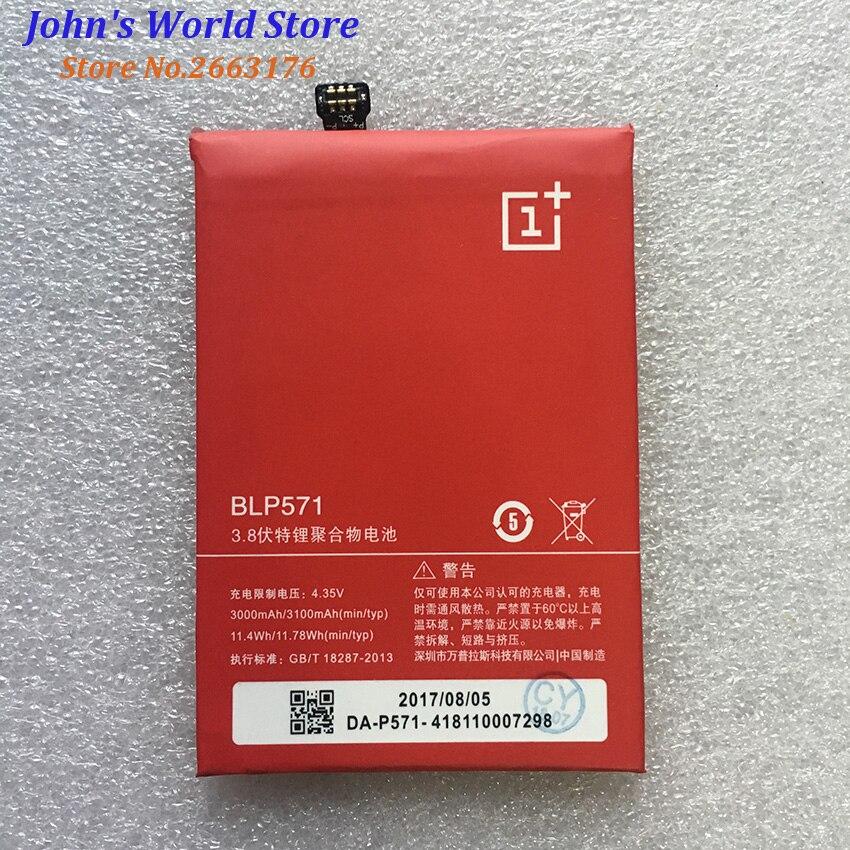 Para Oneplus one battery 3100mah BLP571 li-on batería integrada para Oneplus 1 teléfono móvil