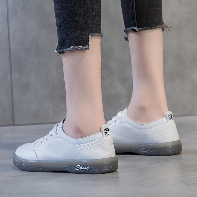 AIYUQI Sneakers Shoes women Genuine Leather Casual All-match White Shoes Women Flat Large Size Non-slip Loafers For Girls 4