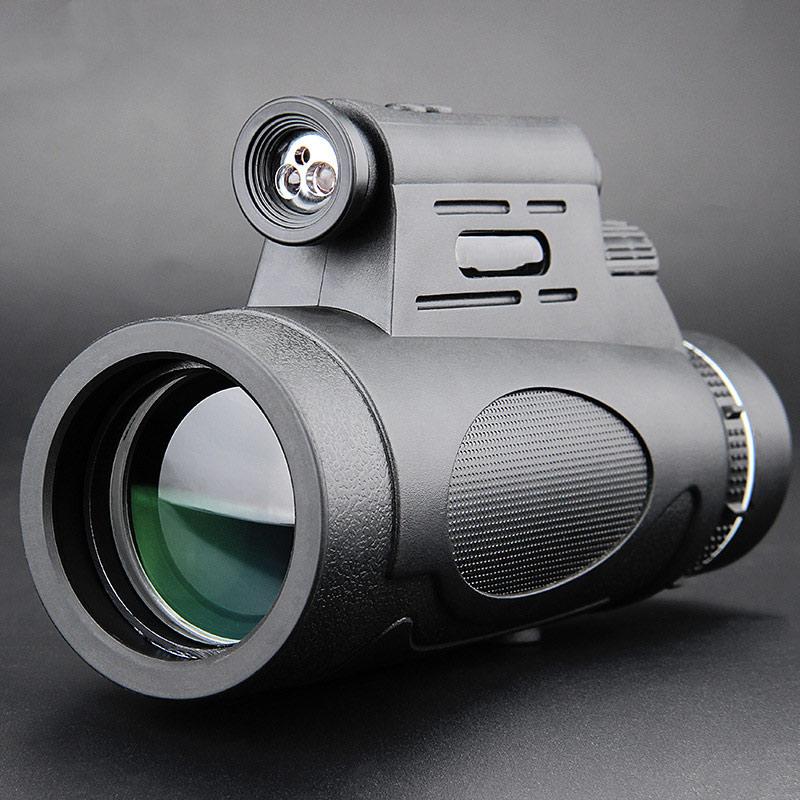 Caminhadas profissional militar portátil esporte telescópio bak4 12x50 fmc telescópio monocular hd visão noturna caça clmbing kit