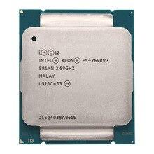 Intel Xeon E5 2690 V3 E5 2690V3 E5-2690V3 Processeur 2.6Ghz 12 30MB Socket LGA 2011-3 CPU Adapté X99 carte mère