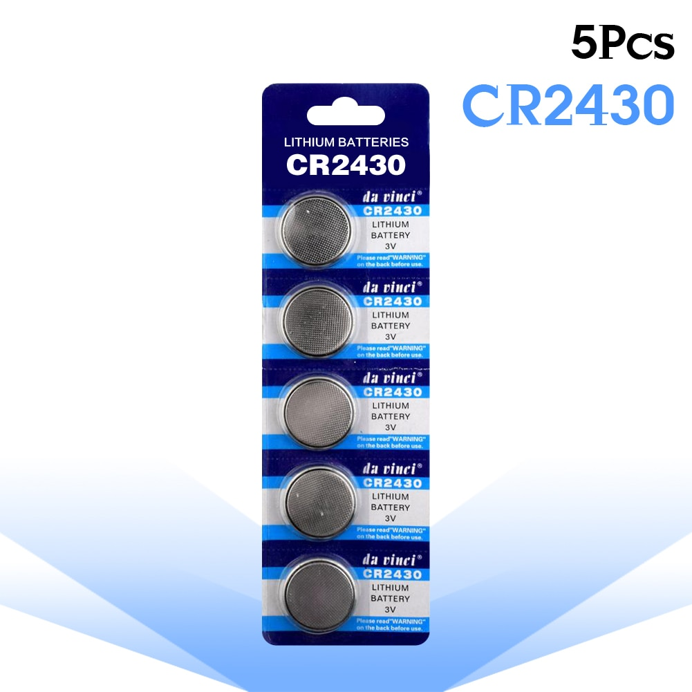 5pcs/pack CR2430 Button Batteries DL2430 BR2430 KL2430 Cell Coin Lithium Battery 3V CR 2430 For Watch Electronic Toys Controller