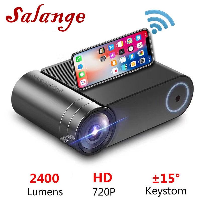 Salange Mini Beamer YG420,720P Projector 2400 Lumens 1280x720, Video Projector HDMI USB 1080p Proyector Bluetooth WIFI Beamer