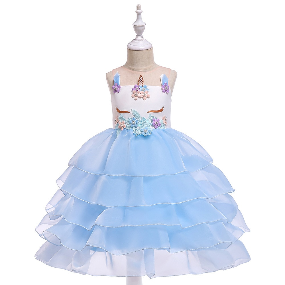 Flower Girl Dresses for Wedding A Line Tulle Girls Pageant For Party