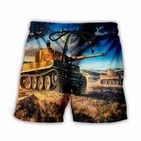 the latest mens shorts tank art 3d printing unisex casual stretch pants summer beach breathable quick drying pants style s 5xl