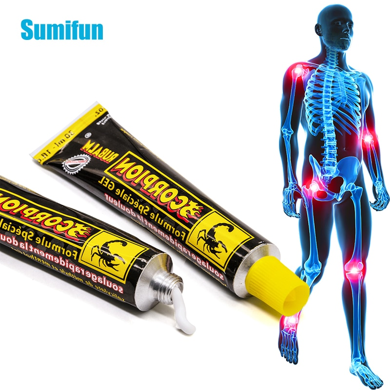 1/2 pces 30g escorpião veneno pomada poderoso eficiente alívio da dor dor muscular dor reumatismo artrite neuralgia ácido estase creme