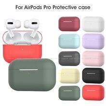 Piękny Coloful silikonowy TPU Bluetooth bezprzewodowe etui na słuchawki dla Airpods Pro ochronna pokrywa akcesoria skóry dla Airpods 3 2019