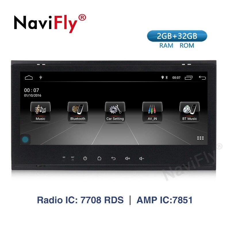 NaviFly del coche de Android 9,1 reproductor multimedia para VW/Volkswagen/Touareg 2004-2011 FM Radio USB DVR GPS 2 + 32G Canbus Wifi mapa Mic BT
