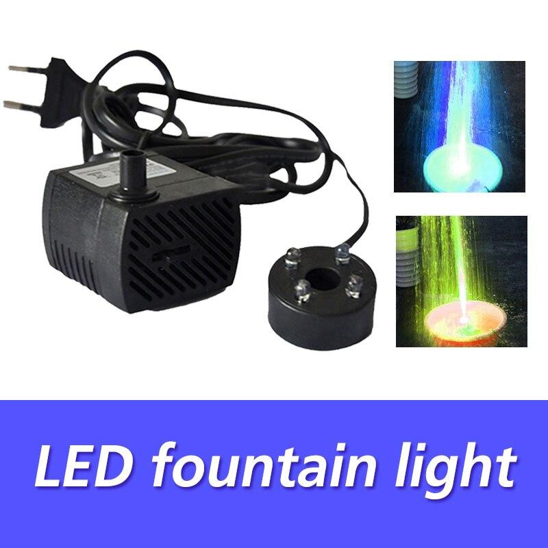 Luces LED coloridas para piscina, bomba eléctrica sumergible para acuario, bomba de agua, Lámpara decorativa a la moda, luces para piscina y fuente
