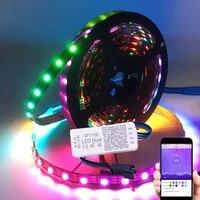dc5v usb ws2812b led strip light addressable with sp110e bluetooth led controller tv backlight 3060ledpixel home bedroom decor