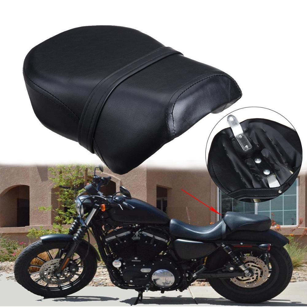 Samger, asiento de motocicleta Passenge, asiento tipo sillín trasero para Harley Sportster 883C 883N 883XL y 1200N 1200 Nightster