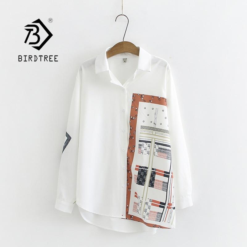 New Arrival Women Vintage Oversized Chiffon Blouse Print Batwing Sleeve White Shirt Casual Plus Size 4XL Tops Feminina Blusa T06