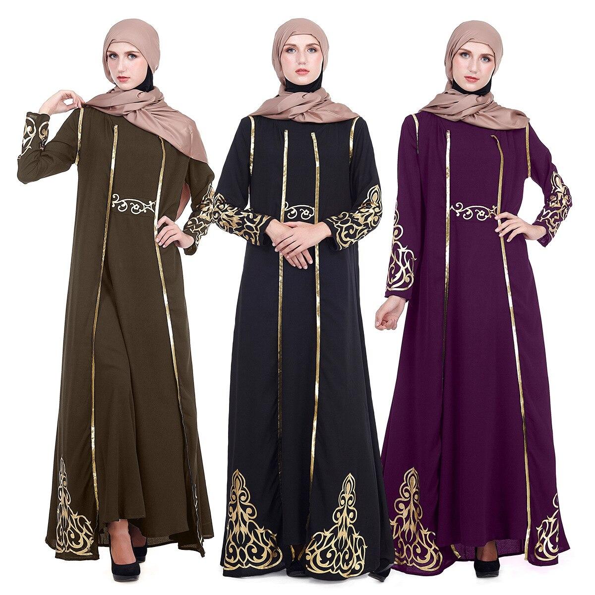 Vestido musulmán Retro de 2 uds., caftán de oración, Abaya, Turquía, Hijab,...