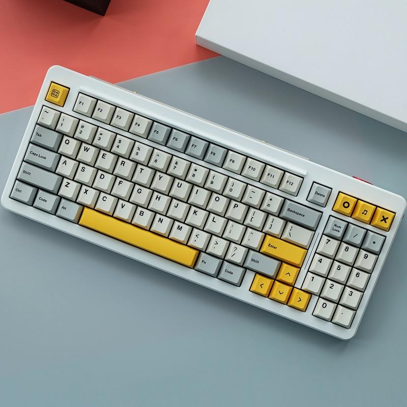 Juego de tapas de llave de amatista para teclado mecánico MX Switch, 1 Juego de 8008 puntos, Mizu, industrial pesado, para enlarge