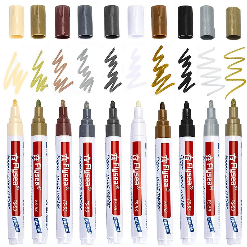 AliExpress - 2021 Tile Marker Repair Wall Pen Grout Marker Odorless Non Toxic for Tiles Floor Tyre Suitable Car Painting Mark Pen TSLM