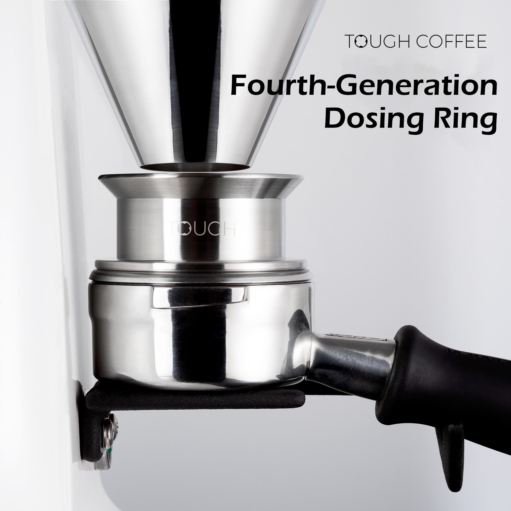 إسبرسو باريستا ذكي الجرعات الدائري 304 الفولاذ المقاوم للصدأ 58 مللي متر/58.5 مللي متر مكافحة يطير مسحوق ل EK43/K30 تختمر السلطانية أدوات القهوة